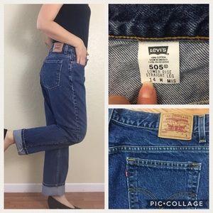"Vintage Jeans - Vintage Levi's 505 mom jeans  33"" to 34"" waist"